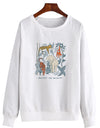 Protect The Wildlife Botanical Chart. Colored - Crew Sweatshirt