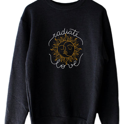 Radiate Love. Colored V2 - Crew Sweatshirt (Pre-Order)