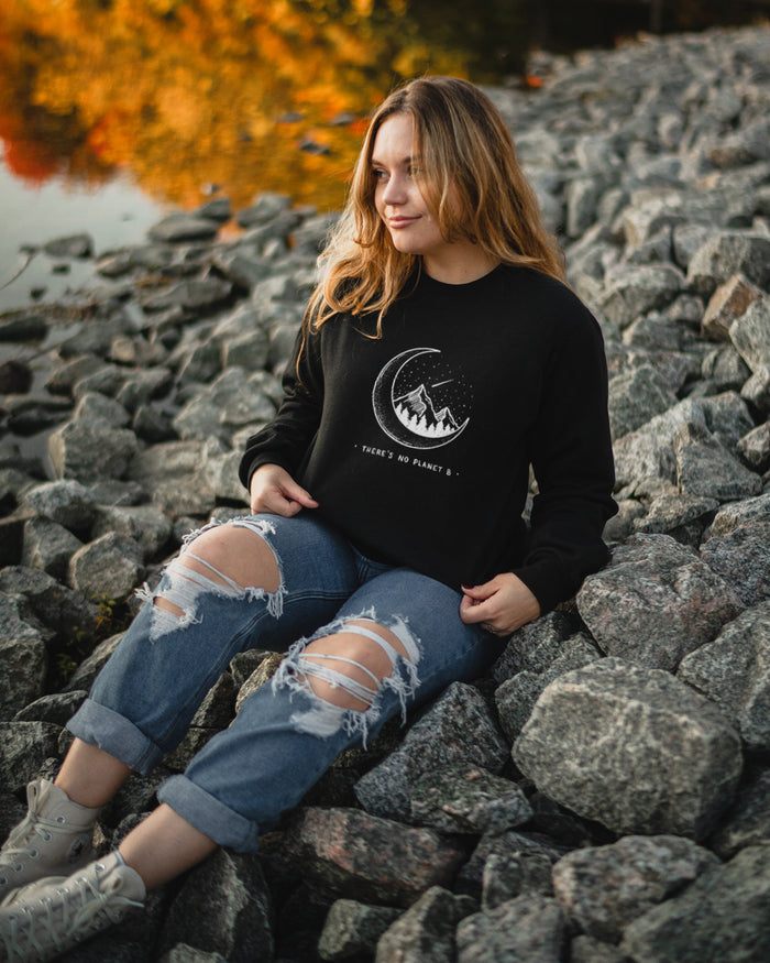 There's No Planet B - Moon - Crew Sweatshirt