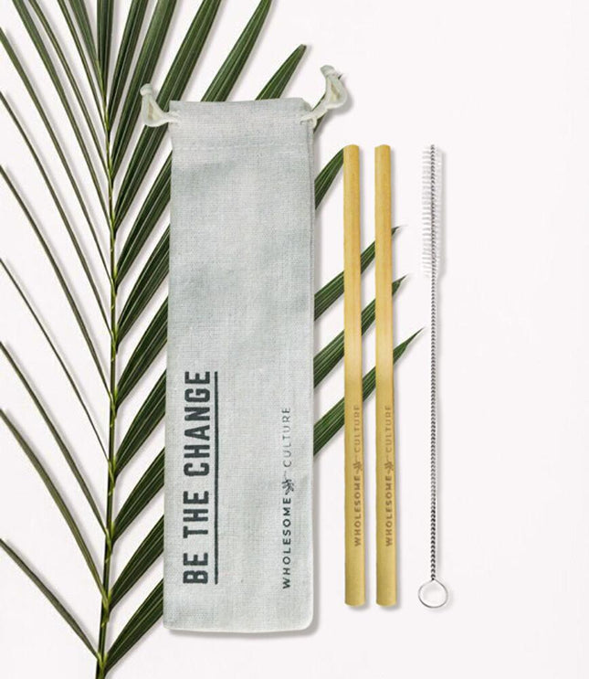 Bamboo Straw - Be The Change - Bamboo Straw