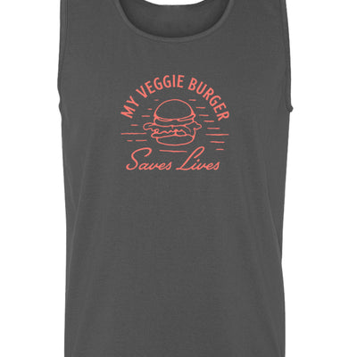 Beach Tank - My Veggie Burger Saves Lives - Beach Tank