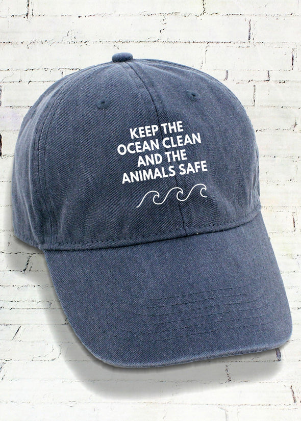 Cap - Keep The Ocean Clean And The Animals Safe - Caps