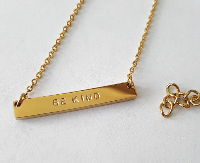 Necklaces - Be Kind - Horizontal Bar Necklace