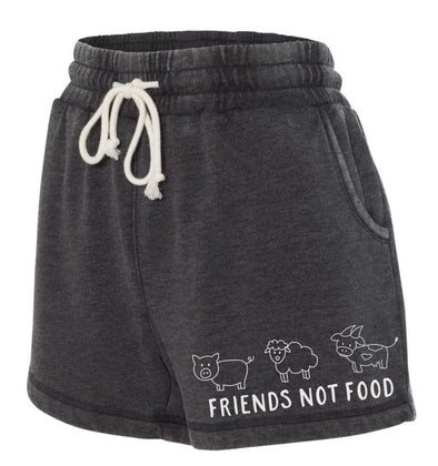 Shorts - Washed Rally Shorts - Friends Not Food