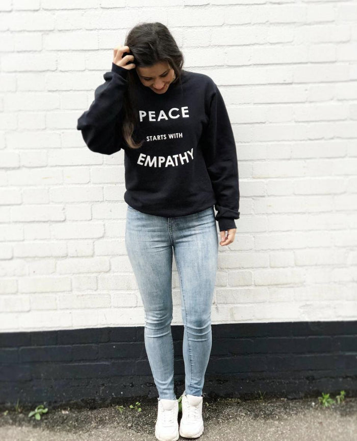 Sweatshirt - Peace Starts With Empathy - Unisex Crewneck Sweatshirt