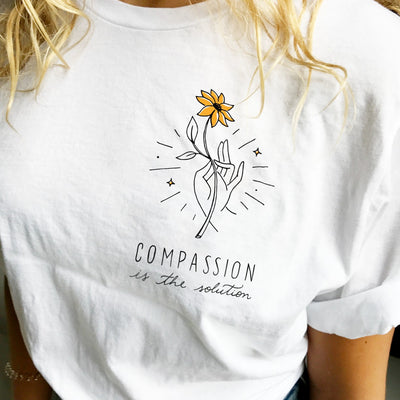 T-Shirts - Compassion Is The Solution - Tee