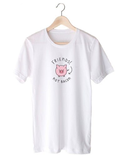T-Shirts - Friends! Not Bacon - Tee