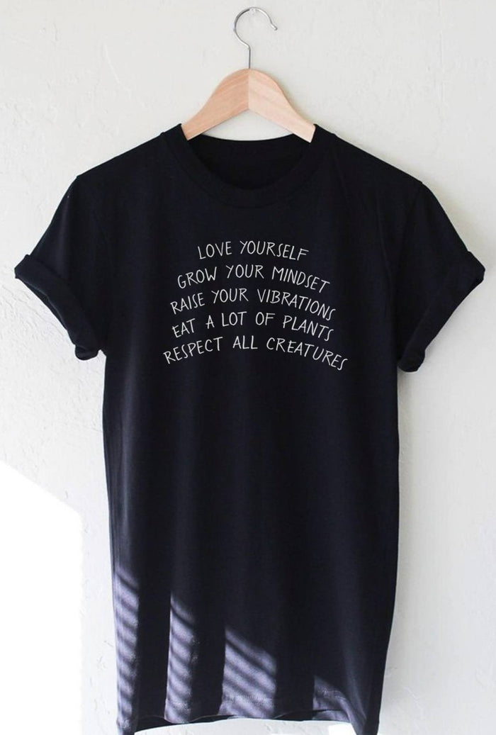 T-Shirts - Love Yourself And All Creatures - Tee