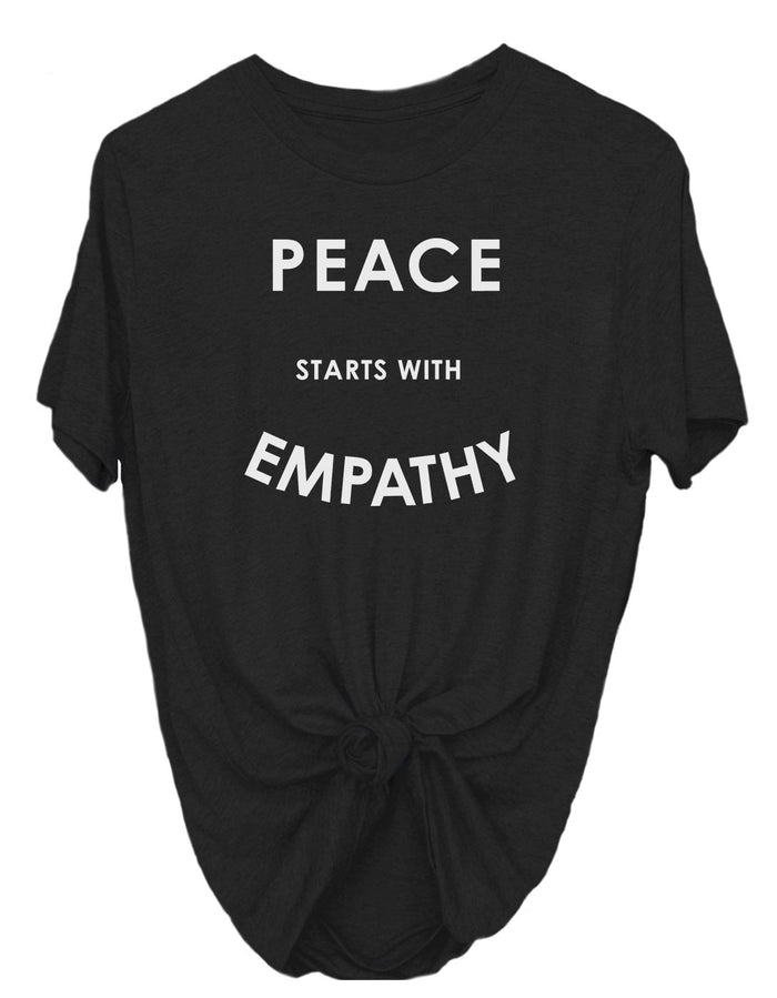 T-Shirts - Peace Starts With Empathy - Tee