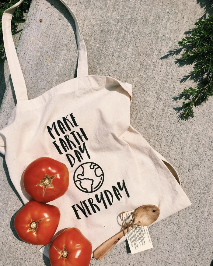 Tote Bags - Make Earth Day Everyday - Tote Bags