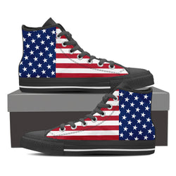 WOMEN'S US FLAG HIGH-TOP SHOES
