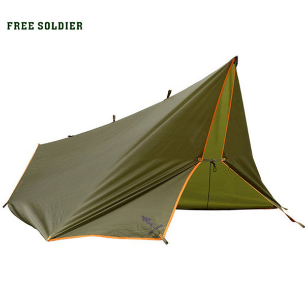 Outdoor camping traveling survivor awning Multi-function mat folding PU waterproof portable tent shade rain shed