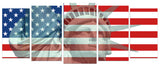 Statue Of Liberty American Flag – 5 panel canvas wall art