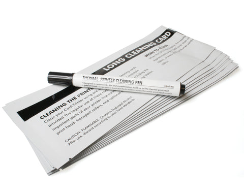 Cleaning Card Kit -10 Cards, 1 pen