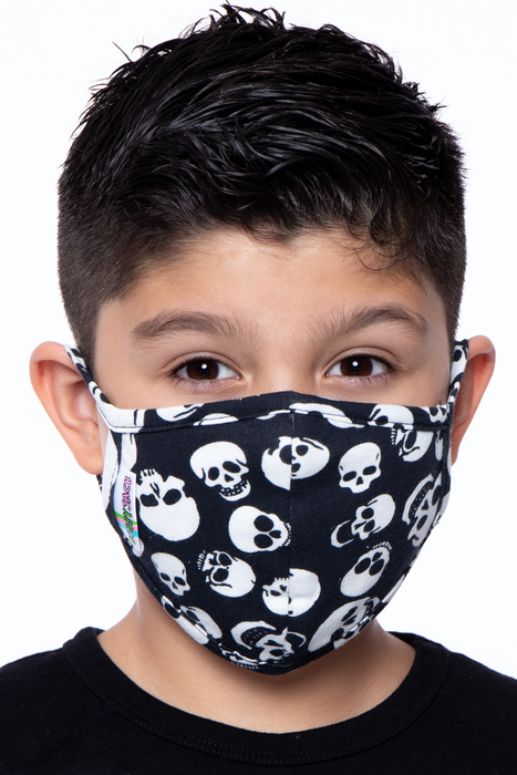 Kids Washable Fun Patterns Face Mask - Boys Ages 4 - 11
