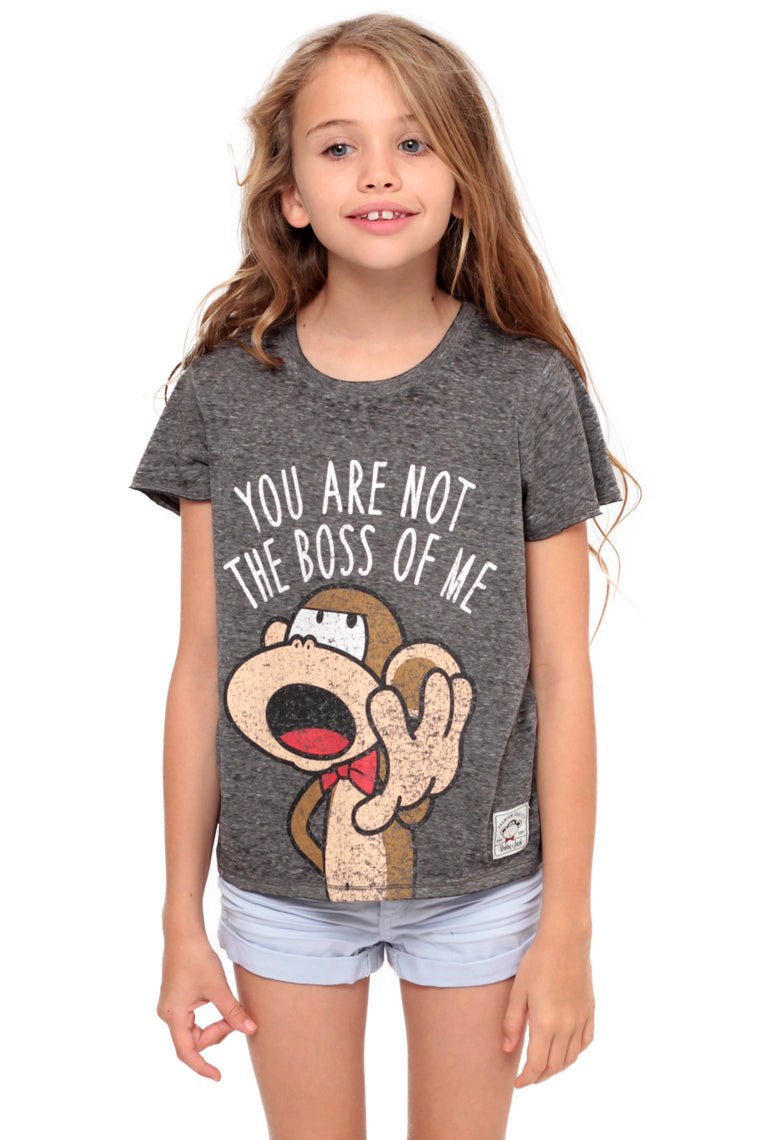 You Are Not The Boss Of Me | Crop Top - Charcoal