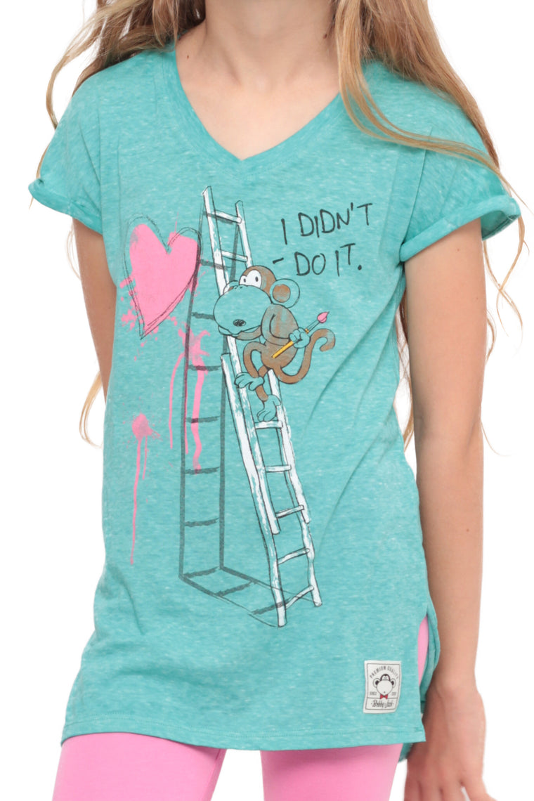 I Didn't Do It | Dolman Top -Aqua