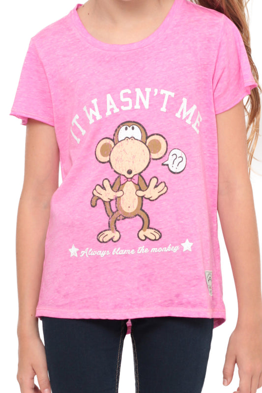 It Wasn't Me | Crop Top - Pink