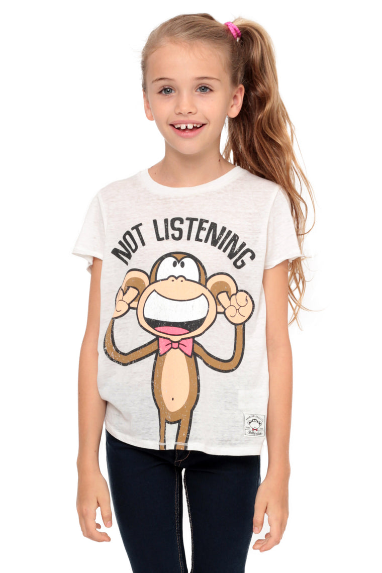 Not Listening | Crop Top - Ivory