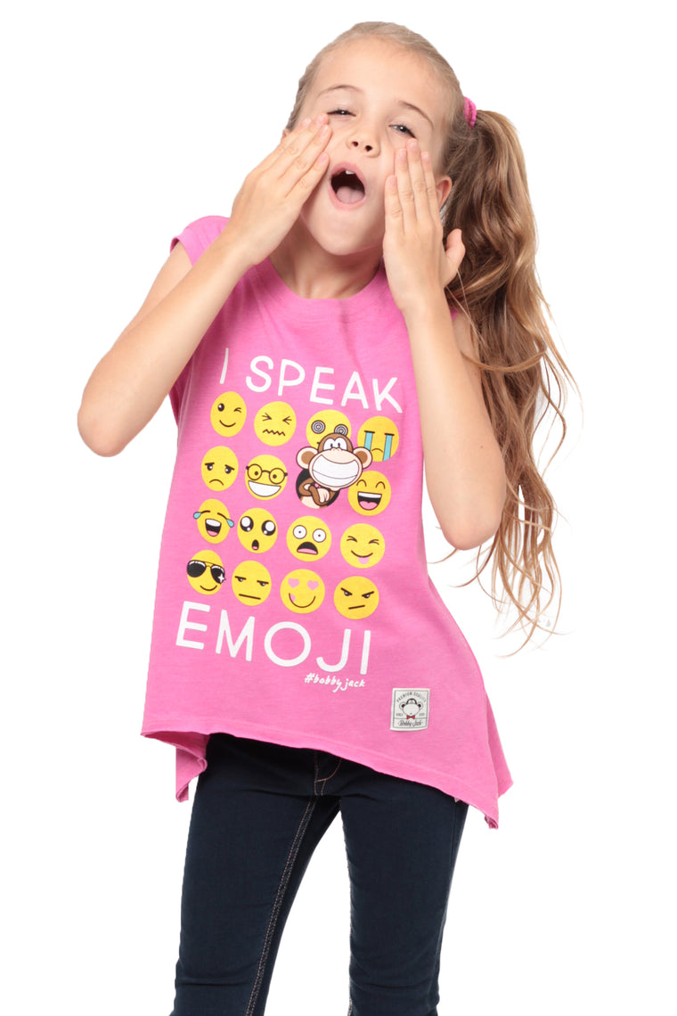 I Speak Emoji | Muscle Top - Pink
