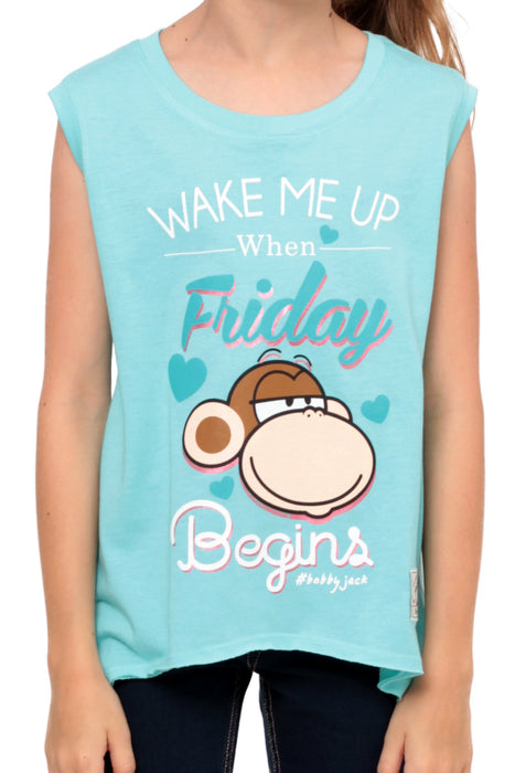 Wake Me Up When Friday Begins  | Muscle Top - Aqua