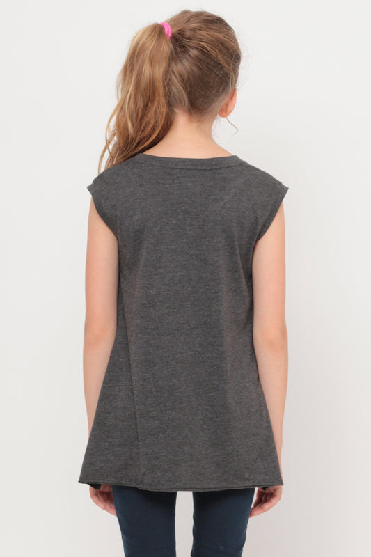 How About No | Muscle Top - Charcoal