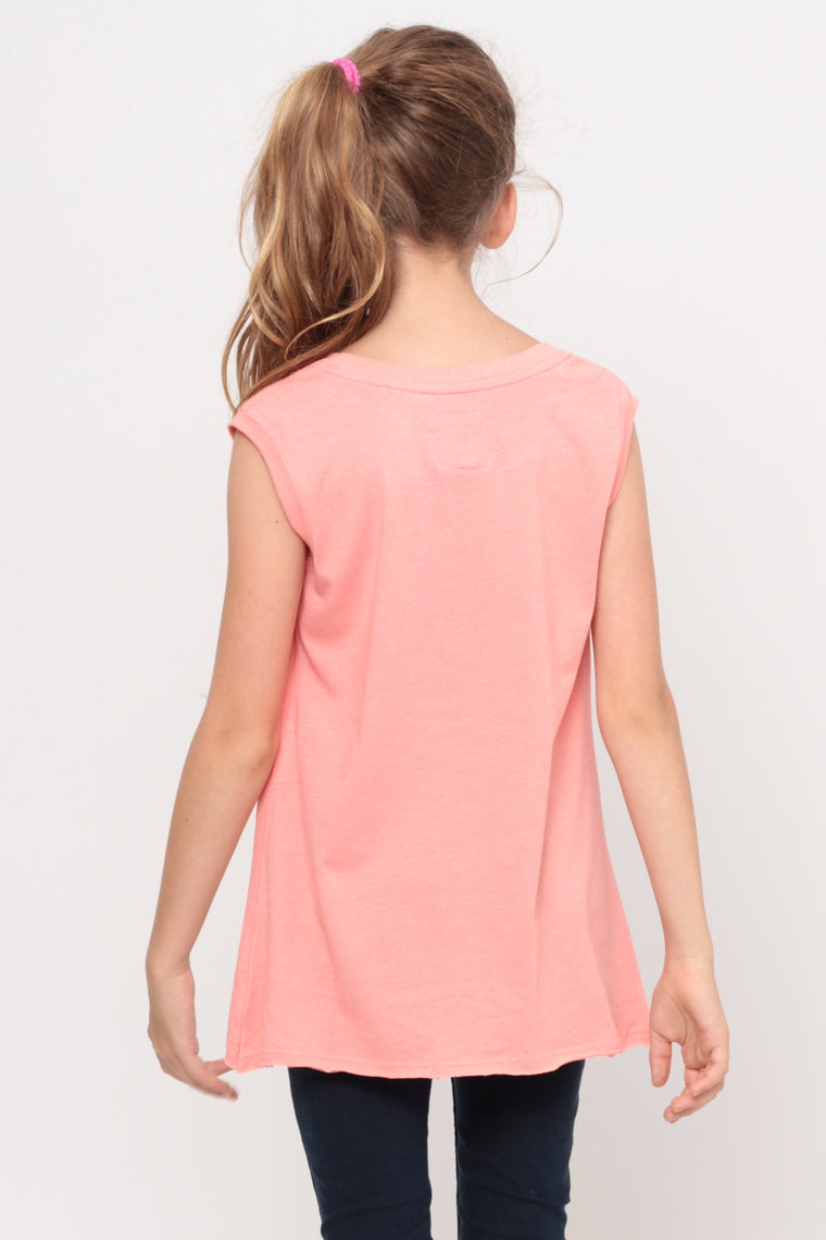 Shine And Smile | Muscle Top - Coral