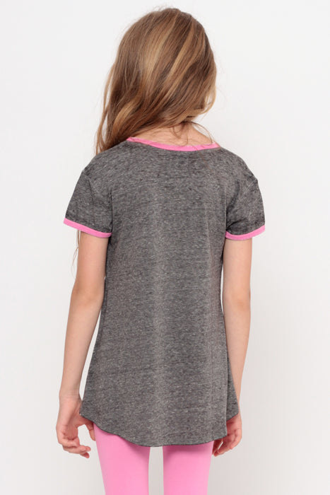 Jetsetter | Pocket Ringer Top - Charcoal