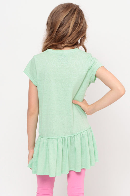 Sweet And Fun | Ruffle Bottom Top - Mint