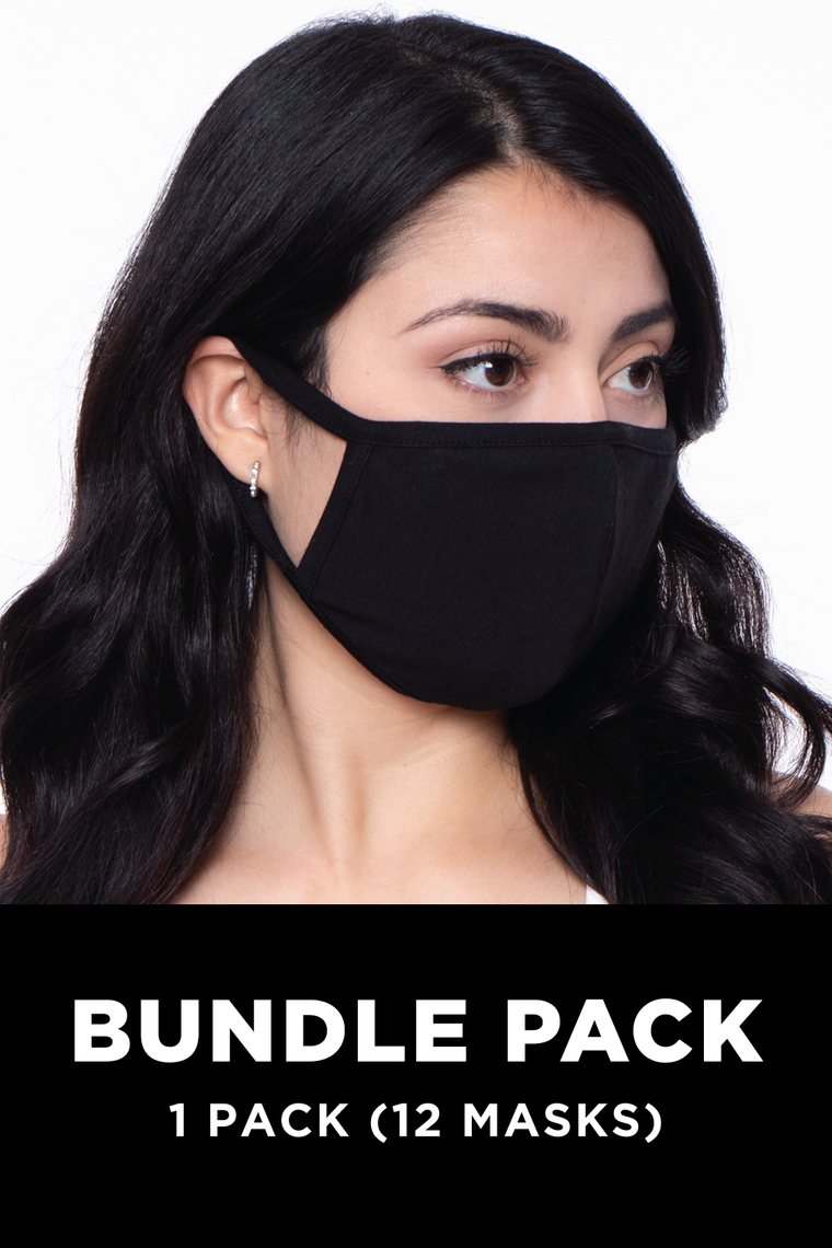 Washable & Reusable Unisex Face Mask - Bundle Pack (12PCS) - Adult Size