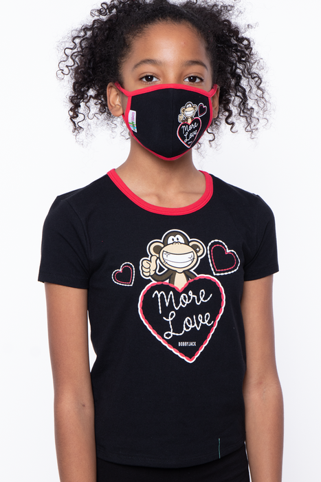 Bobby Jack Kids Mask & Shirt Set - More Love