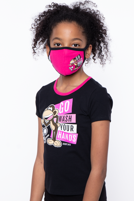 Bobby Jack Kids Mask & Shirt Set - Go Wash Your Hands
