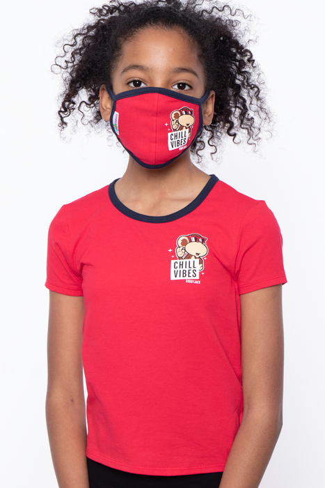 Bobby Jack Kids Mask & Shirt Set - Chill Vibes