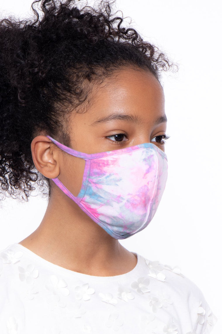 Kids Washable  & Reusable Hand Tie-Dyed Face Mask