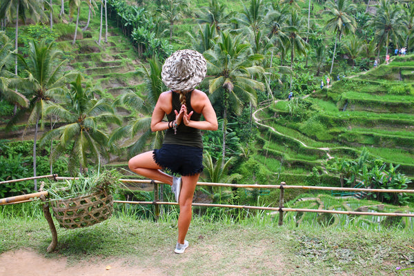 I loved doing yoga event before I created PIYOGA pants. This was taken at the Tagalalang Rice Terraces in Ubud, Bali. PIYOGA pants