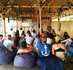 Gili Eco Trust PIYOGA pants ocean conservation lecture about sea turtle conservation