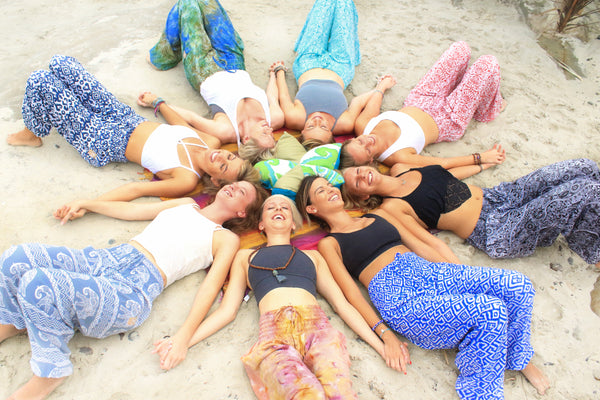 PIYOGA girls just want to have fun! A special thank you to all my friends for helping me launch PIYOGA pants!! Photo taken at WindandSea La Jolla, California