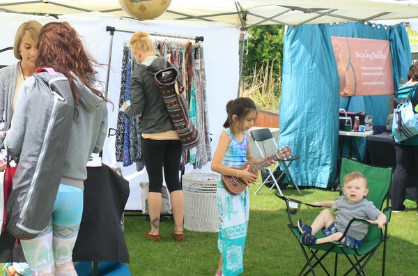 PIYOGA pants team selling lots of yoga pants in Seattle, Washington for Tula Fest