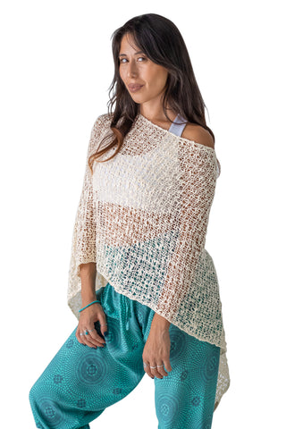 PIYOGA OFF THE SHOULDER SWEATER SHAWL CROCHET HANDMADE