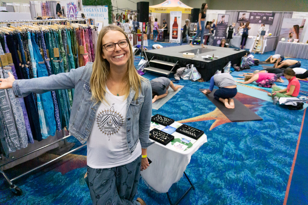 PI Yoga Pants at the Fort Lauderdale Yoga Expo in Florida