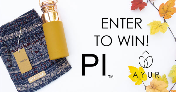 ayur water bottle pi yoga pants contest enter to win