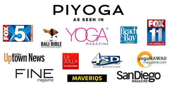 PIYOGA was published in Fox 5 San Diego, Fox 11 Los Angeles, Yoga Magazine UK, San Diego Uptown News, FINE Magazine, La Jolla Village News, Maveriqs, San Diego Magazine, Beach & Bay Press, Yoga Hawaii Magazine, Cox Channel 4, and the Bali Bible.