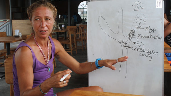 Delphine with the Gili Eco Trust