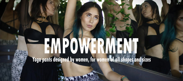 Empowerment. PIYOGA is a yoga brand designed by women, for women of all shapes and sizes with the mission to empower everyone to do yoga, no matter your size.