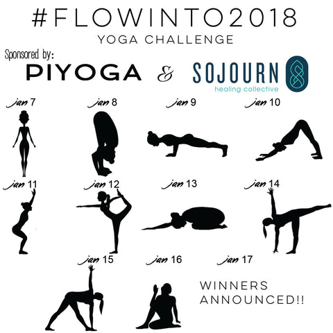 yoga challenge new year instagram flow into 2018 yoga poses
