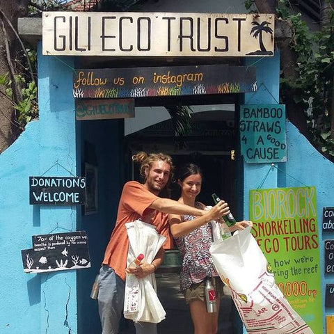 PI yoga pants save the sea turtles Gili Eco Trust Bali Indonesia Gili Trawangan