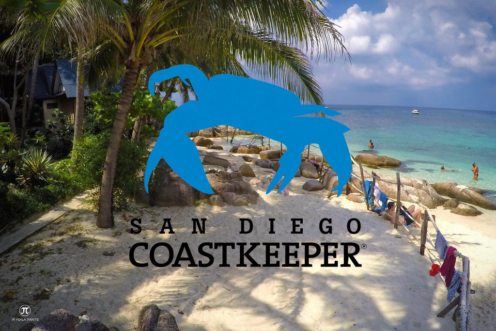 beach clean up blog save the sea turtles save the ocean pi yoga pants san diego coast keeper