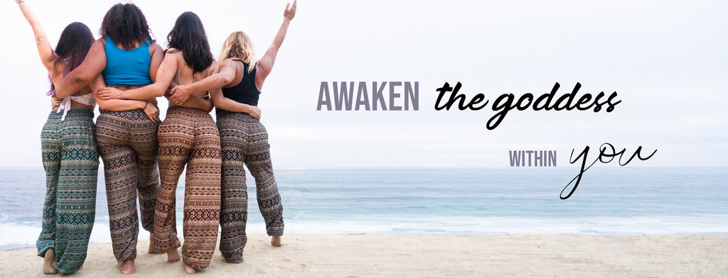 Elemental Collection - New Fall Collection - Tribal Goddess - Loose Yoga Flowy Comfortable Pants - PI Yoga Pants