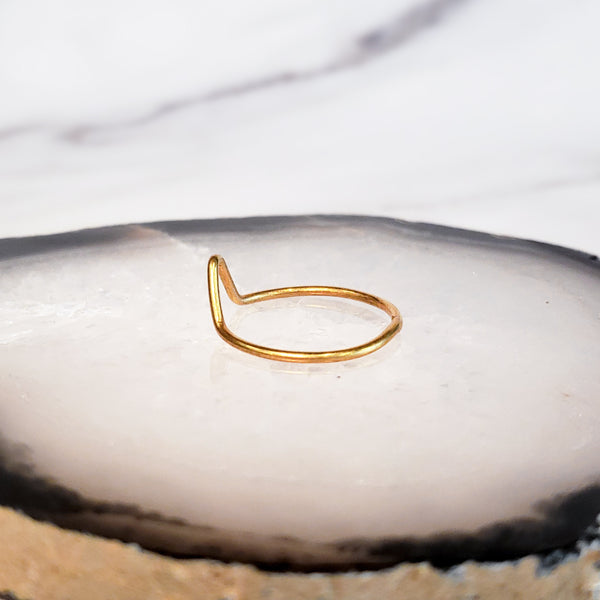 Mountain - Gold Ring