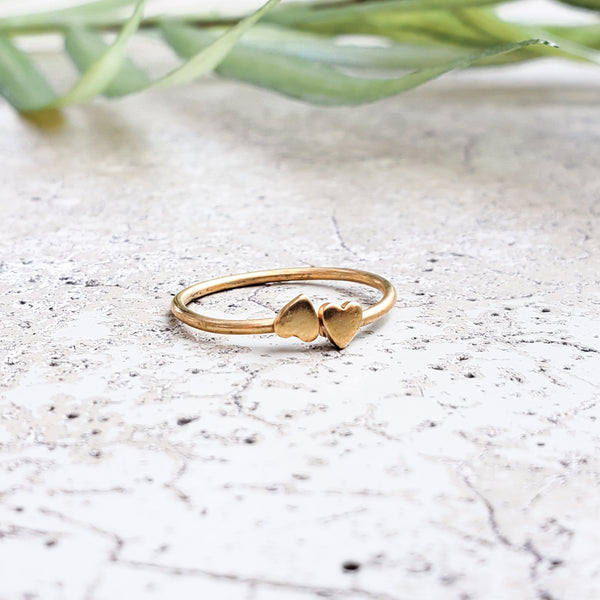Heart to Heart - Gold Ring